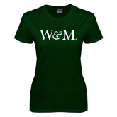 Ladies Dark Green T Shirt-W&M
