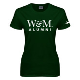 Ladies Dark Green T Shirt-Weathervane
