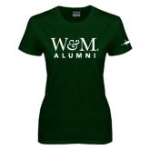 Ladies Dark Green T Shirt-Weathervane