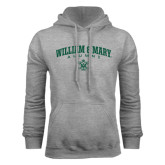 Grey Fleece Hoodie-Arched Collegiate William & Mary Alumni