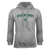 Grey Fleece Hoodie-Arched Collegiate William & Mary Alumni