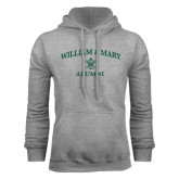 Grey Fleece Hoodie-Arched Academic William & Mary Alumni