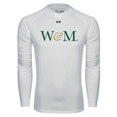 Under Armour White Long Sleeve Tech Tee-W&M