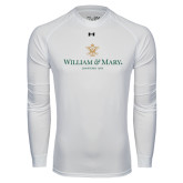 Under Armour White Long Sleeve Tech Tee-Chartered Logo