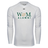 Under Armour White Long Sleeve Tech Tee-W&M Alumni