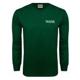Dark Green Long Sleeve T Shirt-W&M