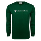 Dark Green Long Sleeve T Shirt-Alumni Association Flat
