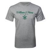 Grey T Shirt-William & Mary Script Alumni