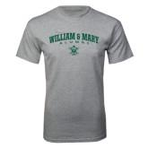Grey T Shirt-Arched Collegiate William & Mary Alumni