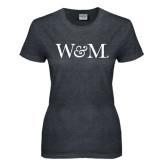 Ladies Dark Heather T Shirt-W&M