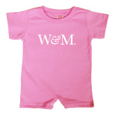 Bubble Gum Pink Infant Romper-W&M