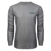 Grey Long Sleeve T Shirt-W&M