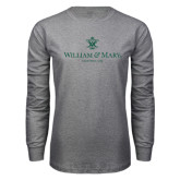 Grey Long Sleeve T Shirt-Chartered Logo