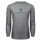 Grey Long Sleeve T Shirt-William and Mary