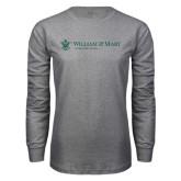 Grey Long Sleeve T Shirt-Alumni Association Flat