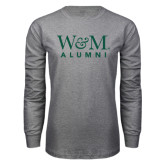 Grey Long Sleeve T Shirt-W&M Alumni