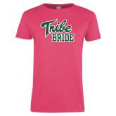 Ladies Fuchsia T Shirt-Tribe Bride