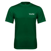 Performance Dark Green Tee-W&M
