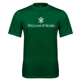Performance Dark Green Tee-William and Mary