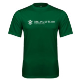 Performance Dark Green Tee-Alumni Association Flat