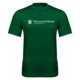 Performance Dark Green Tee-Alumni Association Flat