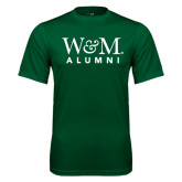 Performance Dark Green Tee-W&M Alumni