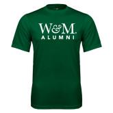 Performance Dark Green Tee-W&M Alumni