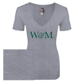 Next Level Ladies Vintage Heather Tri Blend V Neck Tee-W&M