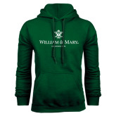 Dark Green Fleece Hood-Chartered Logo