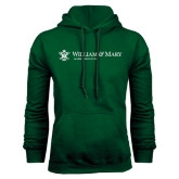 Dark Green Fleece Hood-Alumni Association Flat
