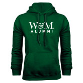 Dark Green Fleece Hood-W&M Alumni