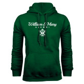 Dark Green Fleece Hood-William & Mary Script Alumni