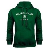 Dark Green Fleece Hood-Arched Academic William & Mary Alumni