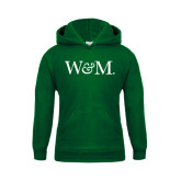 Youth Dark Green Fleece Hoodie-W&M