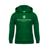 Youth Dark Green Fleece Hoodie-Chartered Logo