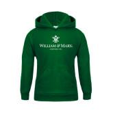 Youth Dark Green Fleece Hoodie-Chartered Logo