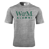 Performance Grey Heather Contender Tee-W&M Alumni