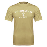Performance Vegas Gold Tee-Arched Academic William & Mary Alumni