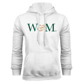White Fleece Hoodie-W&M