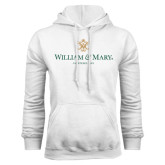 White Fleece Hoodie-Chartered Logo