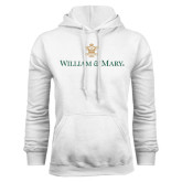 White Fleece Hoodie-William and Mary