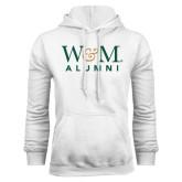 White Fleece Hoodie-W&M Alumni