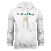 White Fleece Hoodie-William & Mary Script Alumni