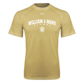 Under Armour Vegas Gold Tech Tee-Arched Collegiate William & Mary Alumni