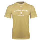 Under Armour Vegas Gold Tech Tee-Arched Academic William & Mary Alumni