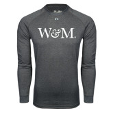 Under Armour Carbon Heather Long Sleeve Tech Tee-W&M