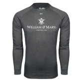 Under Armour Carbon Heather Long Sleeve Tech Tee-Chartered Logo