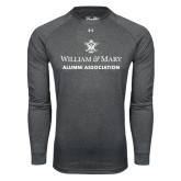 Under Armour Carbon Heather Long Sleeve Tech Tee-Alumni Association Stacked