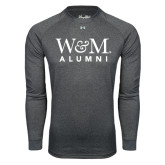 Under Armour Carbon Heather Long Sleeve Tech Tee-W&M Alumni
