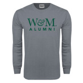 Charcoal Long Sleeve T Shirt-W&M Alumni